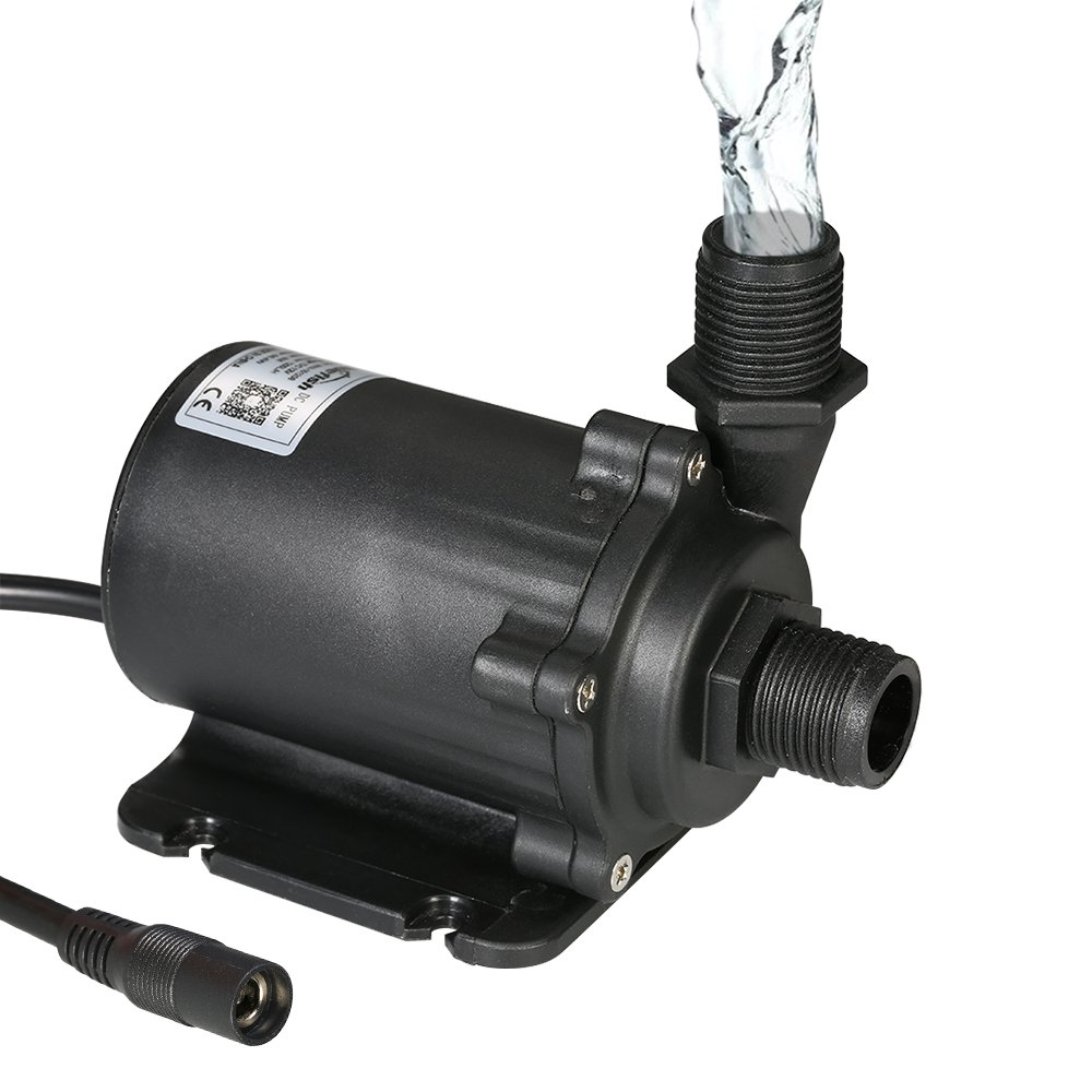 Decdeal Bluefish DC12V 45.6W 1200L/H Lift 8m Brushless Water Pump with External Controller for Aquarium Fish Tank Tabletop Fountain Pond and Hydroponic Systems