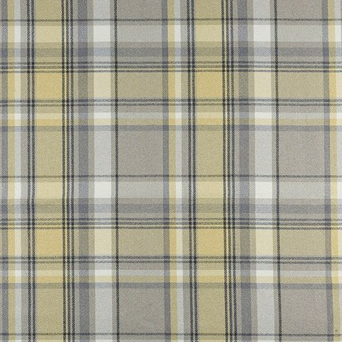 Mcalister Textiles Heritage Mimosa Yellow Tartan Check