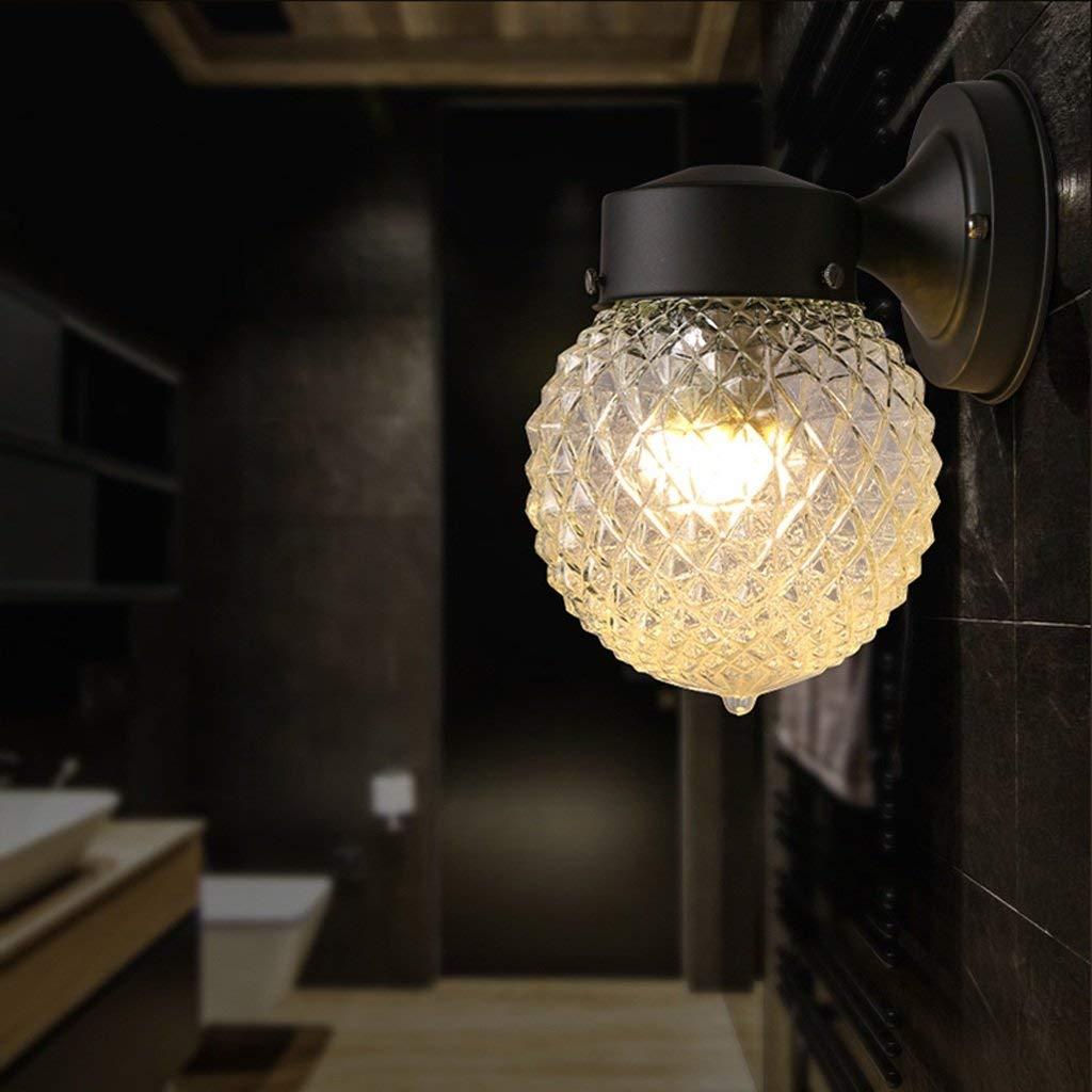 Wand Leuchte amerikanischen Dorf einfach Kugel Eisen Glas sphärischen Gang Gang Einzelzimmer LED Wandleuchte (zwei Lampen) (Stil  B)