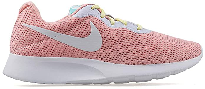 Nike Tanjun Damen Sneaker Laufschuhe Pink mit weißem Streifen