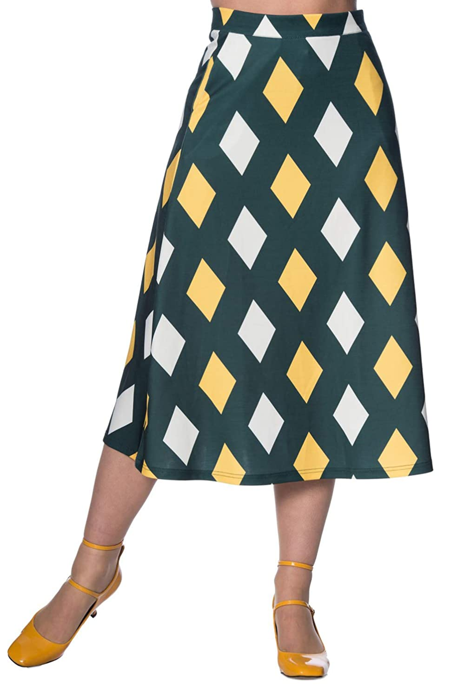 60s Skirts | 70s Hippie Skirts, Jumper Dresses Banned 60s Diamond Skirt $35.95 AT vintagedancer.com