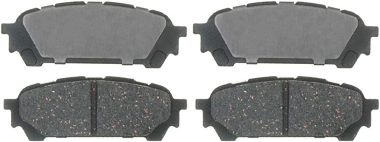 Wagner QuickStop ZD1004 Ceramic Disc Pad Set Includes Pad Installation Hardware Rear