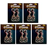10 Jumbo Key Rings Snap Clip Keychains Swivel Trigger Round Eye Lobster Clasp