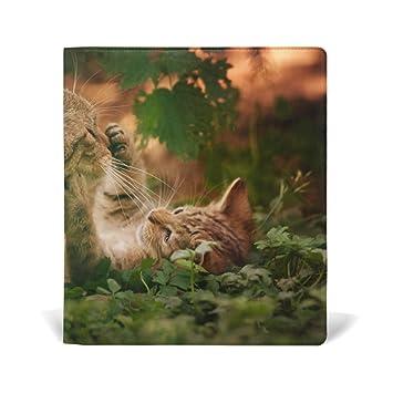 COOSUN Gatitos de los Gatos Libro Medias Estirable Cubierta del Libro, ajustes la mayoría de Tapa ...