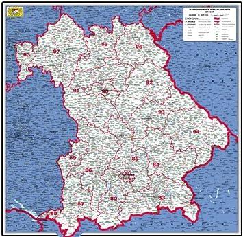 Bayern Powerpoint Karte Landkreise Gemeinden Postleitzahlen Plz 5