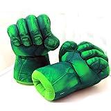 The Hulk Smash Hands Fists Big Soft Plush Gloves Pair Costume Green