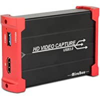 MiraBox USB 3.0 HDMI Game Capture Karte 1080P 60fps Portable HD Video Recorder Gerät Live Streaming für Windows Linux System Superior Low Latency Technologie