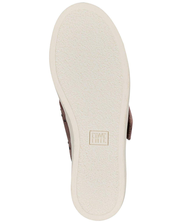 Dusty Rose FRYE Womens Nina Stud Slip Leather Low Top Slip On Size 10.0