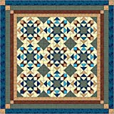 quilt kits - Easy Quilt Kit Reach for the Stars, Blue and Brown