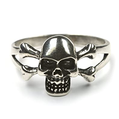 Gothic Ring Totenkopf 925 Sterlingsilber Herrenring Ausgefallener