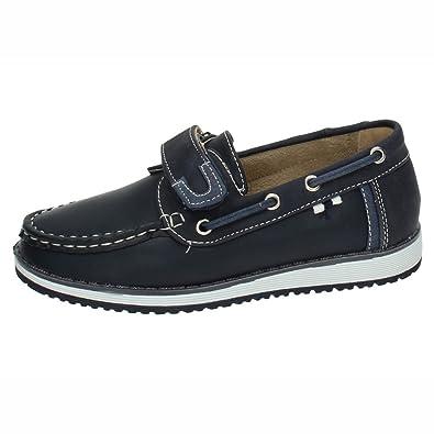 BONINO NS599A-18 Mocasines Azules NIÑO Zapatos MOCASÍN Azul 22