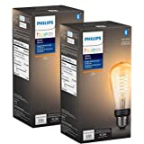 Philips Hue 551788-2 Filament Smart Light Bulb, 2-Pack, Amber