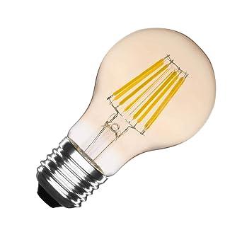 Bombilla LED E27 Regulable Filamento Gold Classic A60 6W Blanco Cálido 2000K-2500K efectoLED