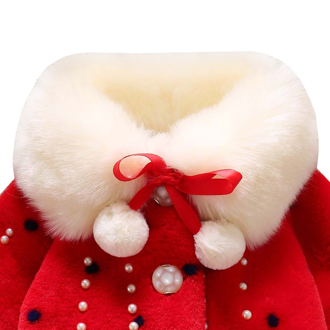 AnKoee Winter Infant Baby Girls Coat Baby Girls Jacket Outerwear 0-24 Months