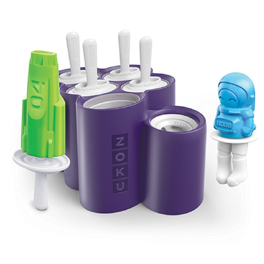 Zoku Classic Pop Molds, 6 Easy-release Popsicle Molds With Sticks and Drip-guards, BPA-free ZK114