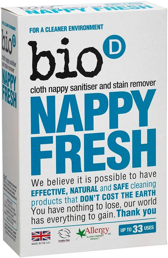 Bio-d Nappy Fresh Non-Biological Cloth Nappy Sanitiser /& Stain Remover 500g