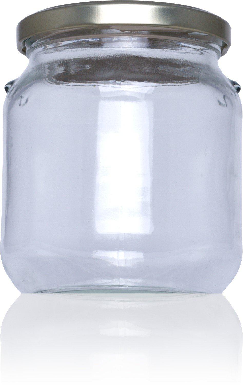 Tarro de cristal conservas Carolina 580 ml - Medio pack 16 u. Tapas Rioja