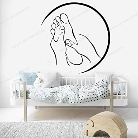 Beauty Salon Spa Wall Decoration Foot Massage Shop Vinyl Wall Sticker Living Room Decoration Decal Wall Painting Sticker 42x32cm Amazon Co Uk Kitchen Home