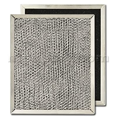 "Aluminum / Carbon Range Hood Filter - 8"" x 9 1/2"" x 7/16"""