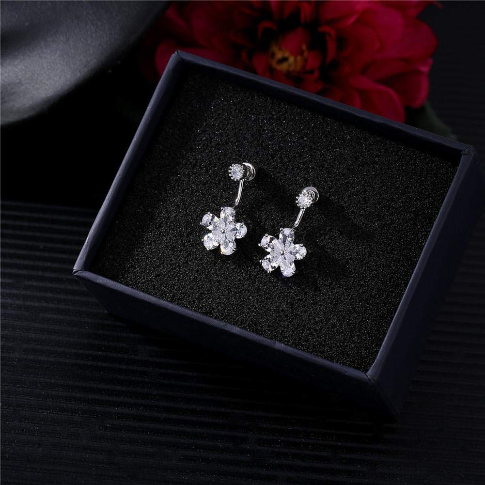 ZRDMN European And American fashion 925 Pure Silver Lovely Students ear screws girl personality temperament,fall short Earrings Water Drop Pendant Stud Earrings for Womens by ZRDMN (Image #3)