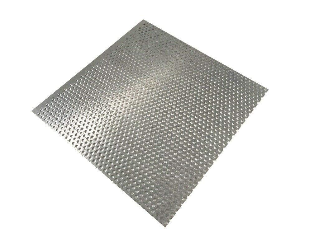 Lochblech 2mm Alu Alublech RV5-8 Aluminium Blechstreifen Aluplatte Gr/ö/ße w/ählbar 200x100mm