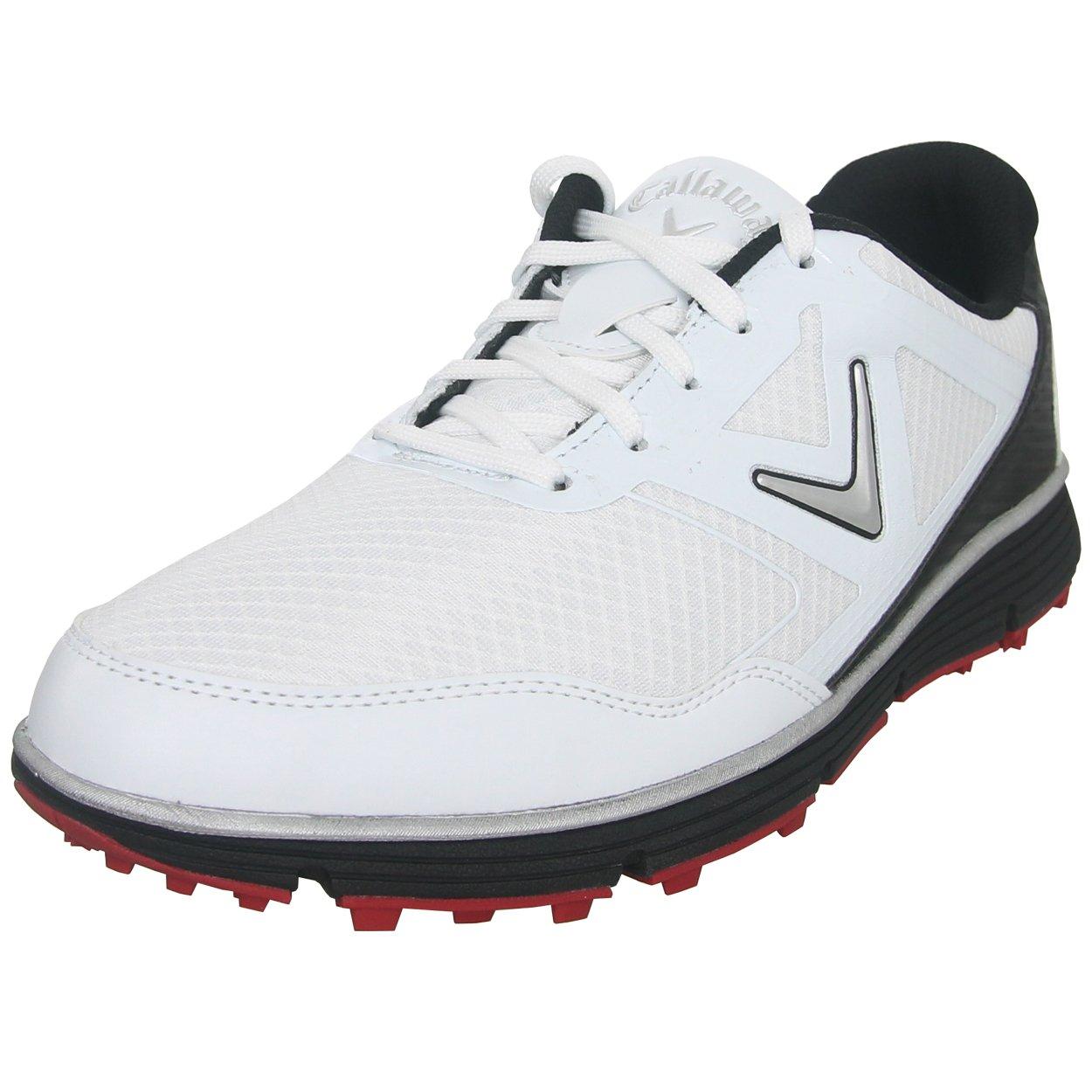 Callaway Men's Balboa Vent Golf Shoe, White/Black, 10 2E US by Callaway