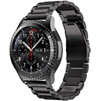 TERSELY Band Strap for Samsung Gear S3 / Galaxy Watch 46mm, Quick Release 22mm Stainless Steel Metal Bands for Samsung S3 Frontier/Classic/Galaxy Watch 46mm Smartwatch - Black