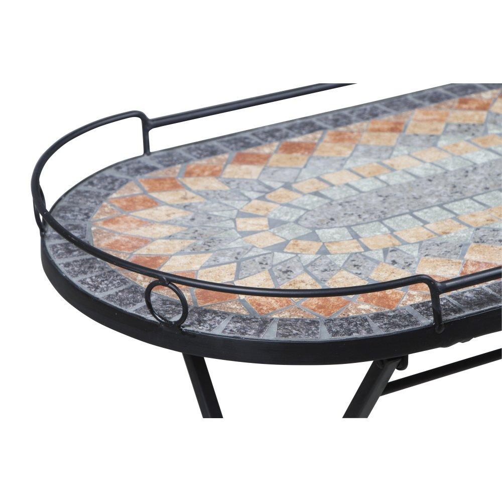 Multicolore Siena Garden Prato tavolino in Ferro con Effetto Mosaico