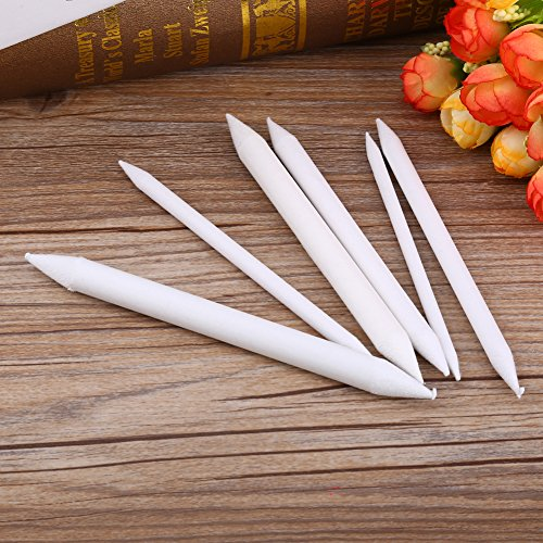 6pcs Double Head Blending Stumps Sketch Paper White Pen Pastel Charcoal Paper Sketch Drawing Art Painting Art Blender Tools
