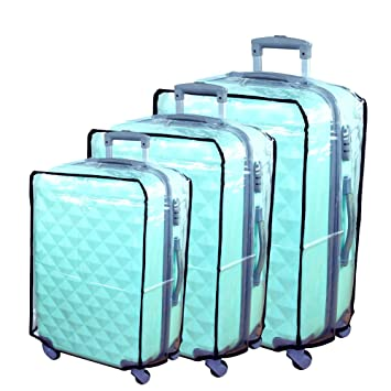 Hibate Clear Plastic Luggage Cover Suitcase Protector Covers - 20 ...