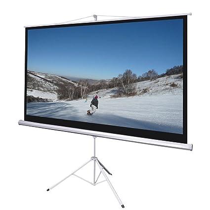 100 pulgadas 16: 9 HD Proyector (bajada Manual pantalla soporte de ...