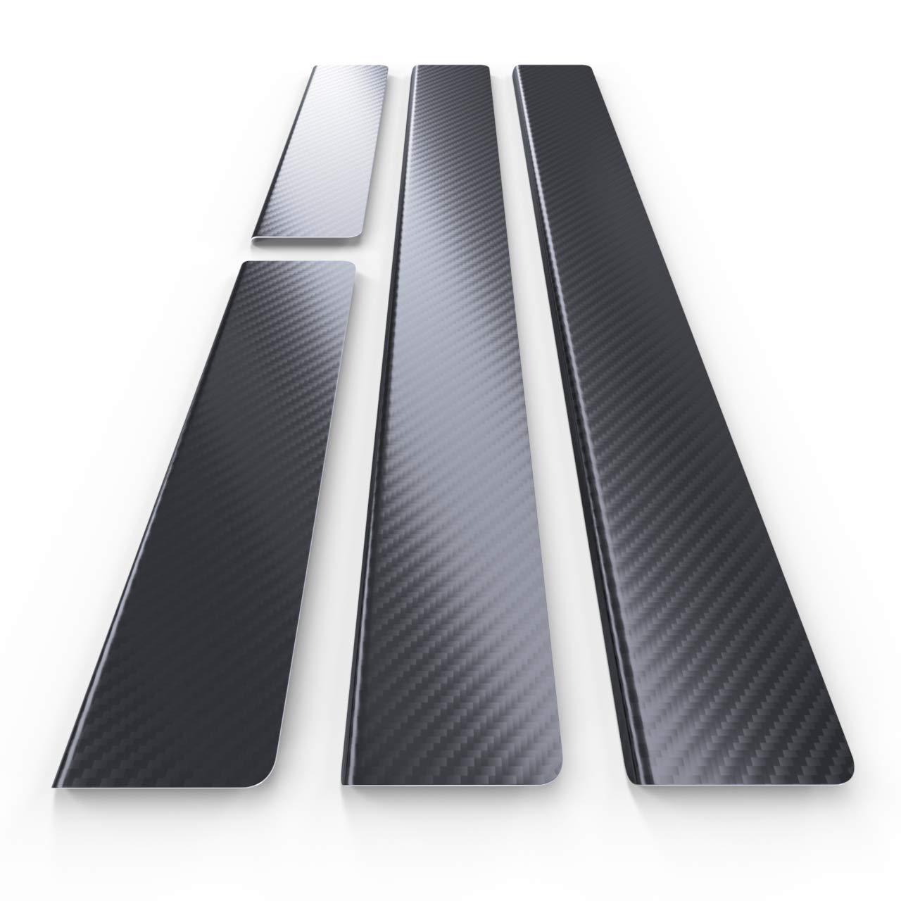 Carbonfolie 4-teilig 5902538699525 Auto Einstiegsleisten Set Edelstahl