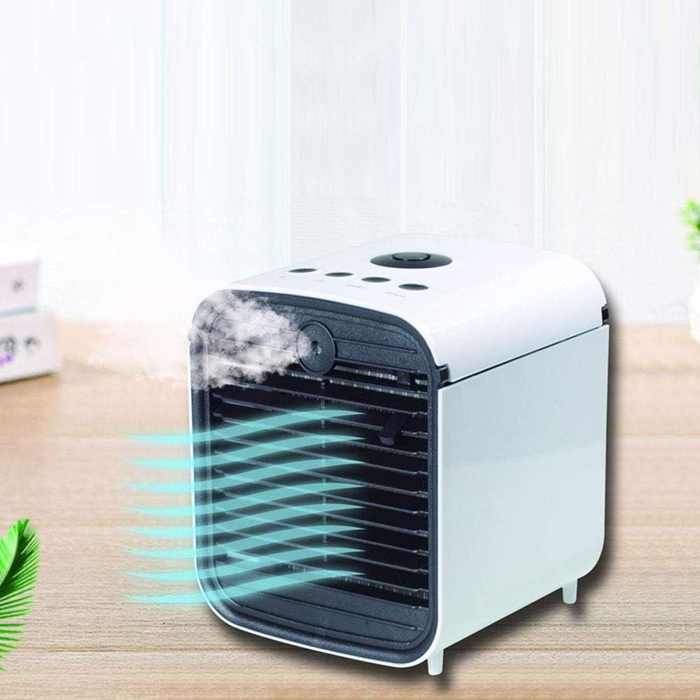 XDLUK Ventilador para Aire Acondicionado Personal 4 en 1 Pequeño refrigerador Personal de Aire USB purificador de Aire Humidificador purificador de Aire refrigerador de Aire para Oficina Dormitorio: Amazon.es: Hogar