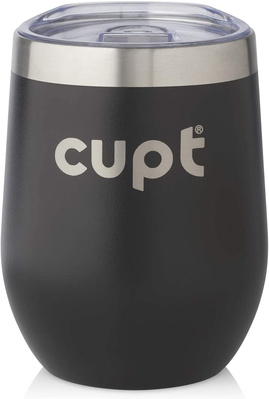 Stainless Steel Vacuum Insulated Thermal Cup Eco Friendly 12Oz Coffee Travel Mug Multipurpose Travel Cup for Coffee and Tea Cupt Reusable Coffee Cup Ideal for School Office Car - Black