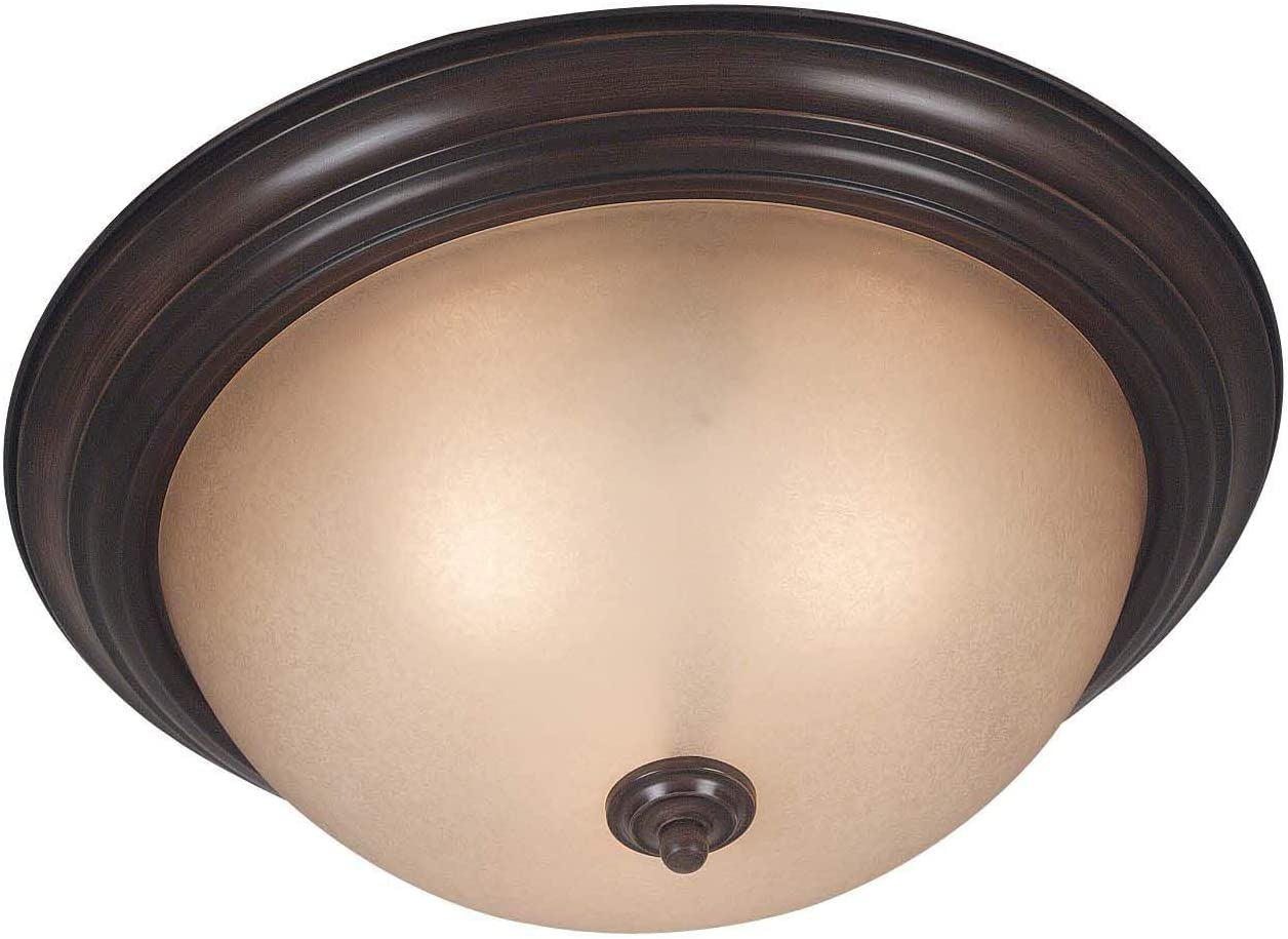 Kenroy Home 80369COCO Triomphe Flushs, 3 Light Mount, Cocoa