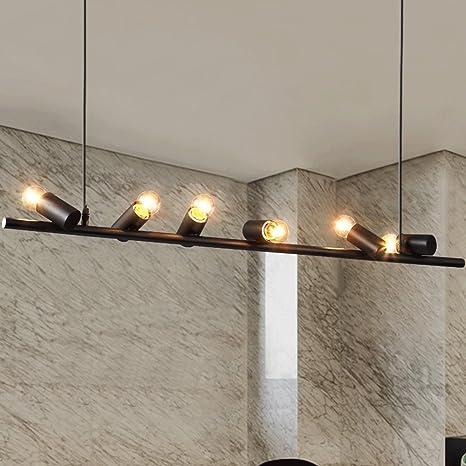 Crayom Fácil instalar seis lámpara de hierro de las cabezas ...
