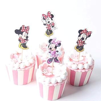 Amazon.com: 1 lote de 24 adornos de Minnie Mouse para bailar ...