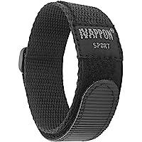 IVAPPON Hook Loop Sport Watch Strap 18mm 20mm Nylon Straps Black Blue Fastening Watchband…