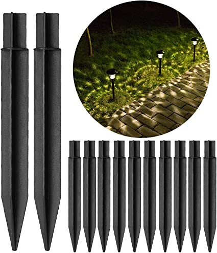 Amazon Com 10 Pcs 8 26 Plastic Ground Spikes Solar Light Stakes Replacement Parts Abs Plastic For Outdoor Torch Lights Garden Outdoor