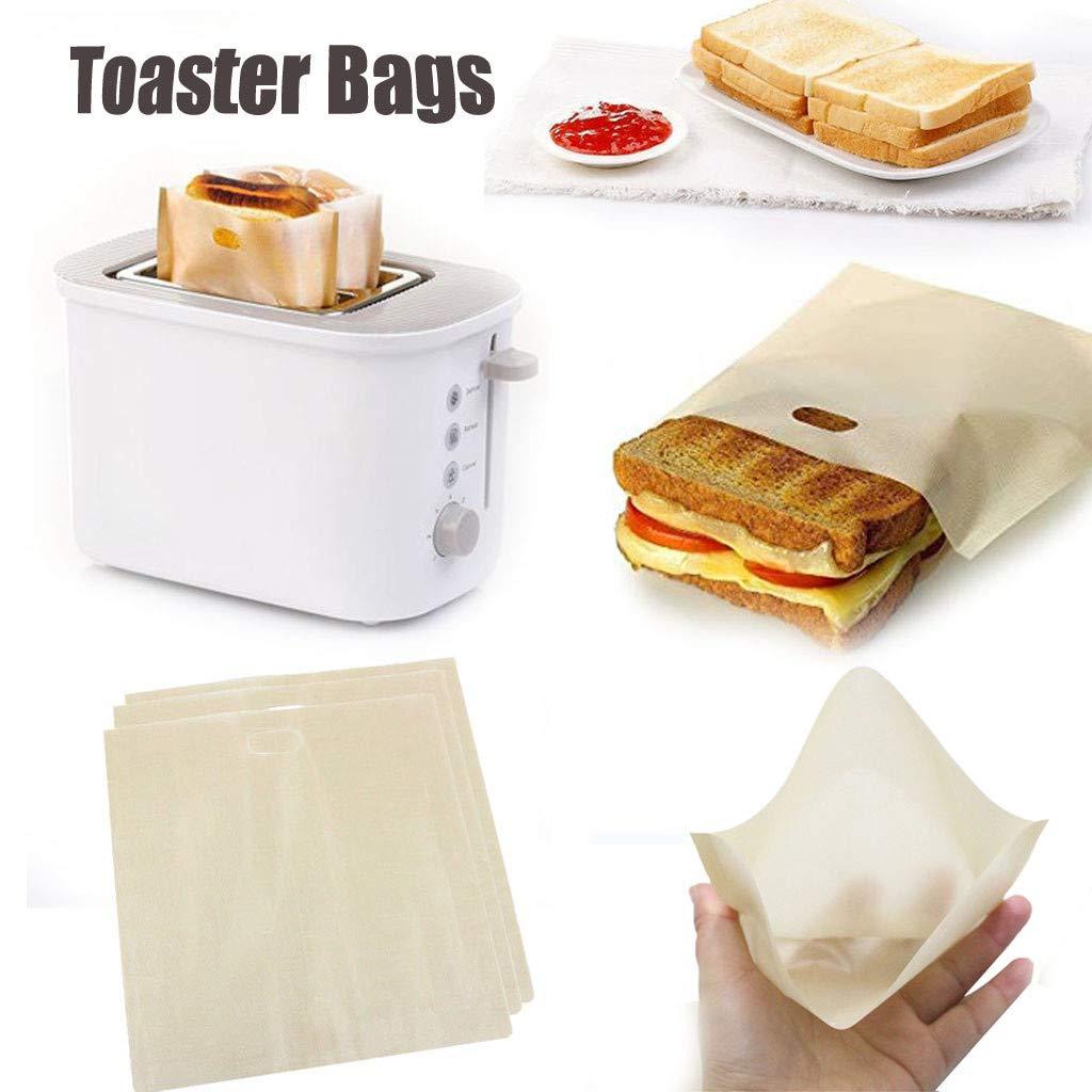 MA87 3 bolsas de tostadora reutilizables para sándwiches de ...