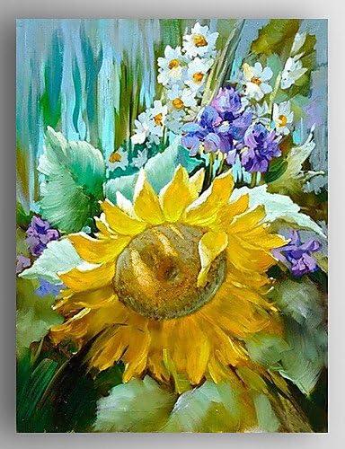 MK Impression Peinture huile Tournesol Fleur