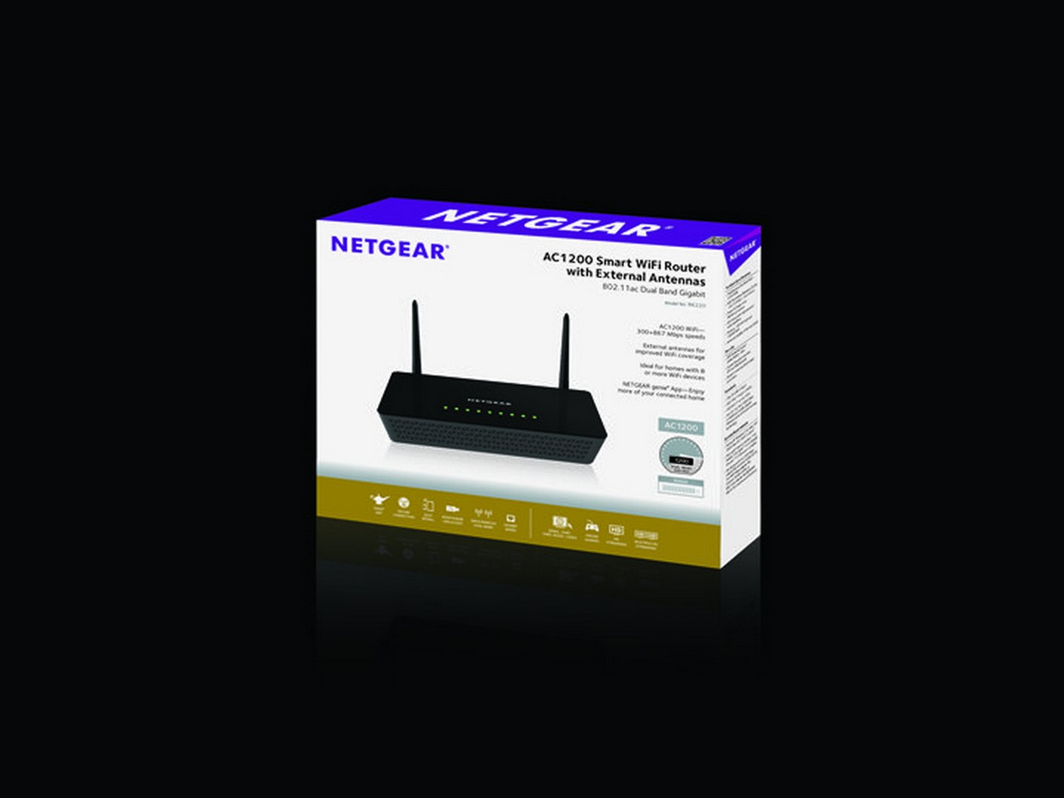 R6020 wifi routers networking home netgear - Amazon Com Netgear Ac1200 Smart Wi Fi Router With External Antennas R6220 100nas Computers Accessories