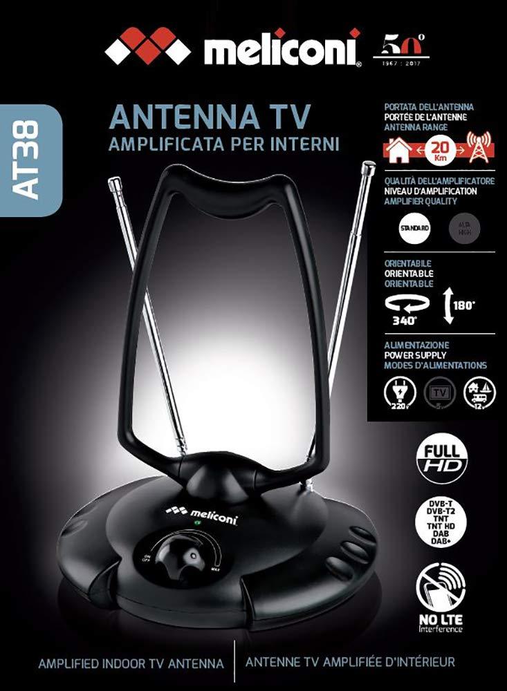 Meliconi 881006 - Antena amplificada TDT 38 dB (220V/240V/12V)