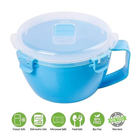 Amazon.com: Annaklin - Tazón para sopa de microondas con ...