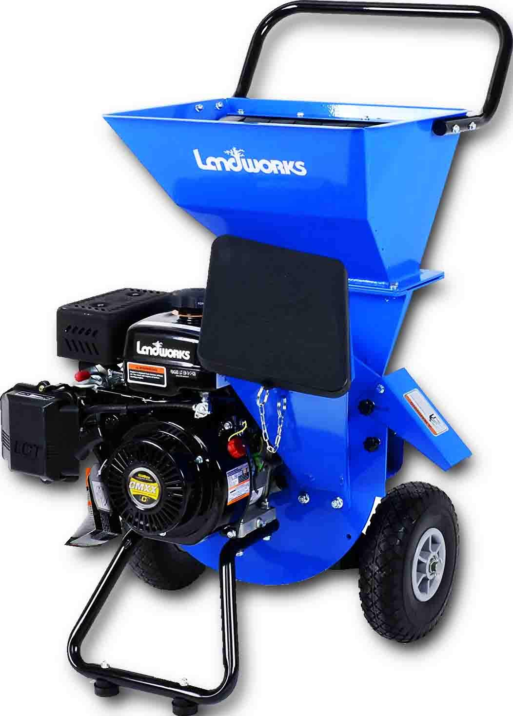 Landworks Super Heavy Duty 7HP 212cc Gas Powered Wood Chipper Shredder Chipping Max. of 3 INCH Capacity, 3 in 1 Capable Multi-Function, CARB Certified 3 Years Warranty by Landworks