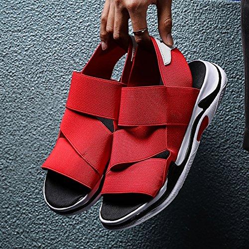 Color tallas elásticas libre aire sandalias Negro 44 estudiantes hombre de Tamaño sandalia Rojo 39 sandalias ZJM negro sandalias casual Deporte niño 44 al verano qPCnUHA