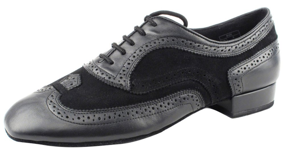 Very Fine Shoes Men's Standard & Smooth Competitive Dancer Series CD9002B Black Leather & Suede (6.5)