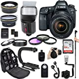 Canon EOS 6D Mark II DSLR Camera + Canon EF 24-105mm f/4L IS II USM Lens + Fully Dedicated TTL Flash + 64Gb SDXC Card + 57 Inch Monopod + FB-150 Flash Bracket + Backpack Case (21 items kit)