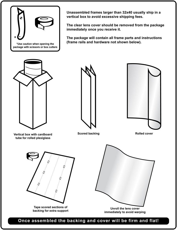 Amazon.com - 32 x 50 Satin Black Poster Frame - Profile: #16 Custom ...