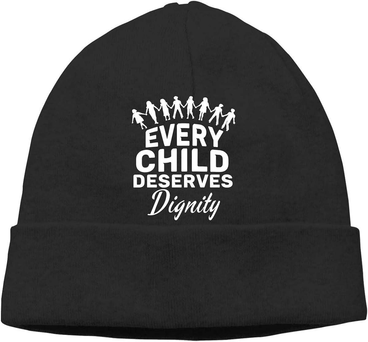 Oopp Jfhg Every Child Deserves Dignity Beanie Ski Cap Mens